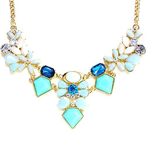 Qiuday Schmuck neue Ankunft Kristall Halskette Schmuck Choker Statement Halskette Kette Halsketten Halsketten Sommer Kette Modeschmuck Perlen Kette Halskette, Halsschmuck für Frauen