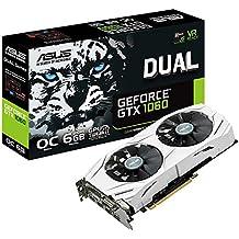 ASUS DUAL-GTX1060-O6G - Tarjeta gráfica (Dual, NVIDIA GeForce GTX 1060, 6 GB, GDDR5) color blanco