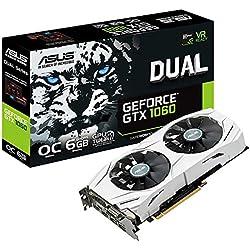 1 de ASUS DUAL-GTX1060-O6G - Tarjeta gráfica (Dual, NVIDIA GeForce GTX 1060, 6 GB, GDDR5, HDMI, DVI, DP) Color Blanco