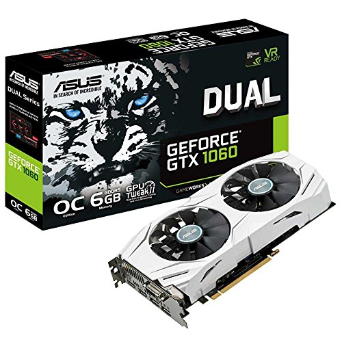Asus Dual-GTX1060-O6G Gaming Nvidia GeForce Grafikkarte (PCIe 3.0, 6GB GDDR5 Speicher, HDMI, DVI, Displayport) - 660 Pc Gtx