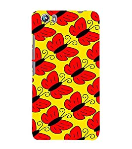 Fiobs catterpillar converted butterflies Designer Back Case Cover for Micromax Canvas Fire 4 A107