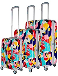 BG Berlin Trolley Set (Set of 3) 56/67/78cm Lobo Collection Europe Style [135] plusieurs couleurs PC74LHwQU