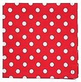 Krasilnikoff Serviette rot, klein weiß gepunktet 40 x 40 cm Stoffserviette