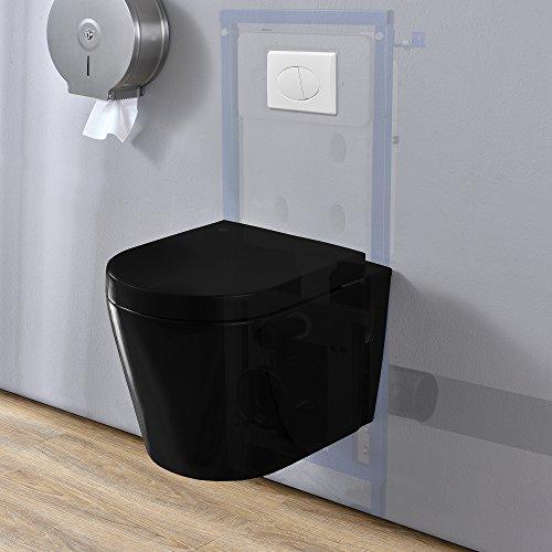 [neu.haus] WC Vorwandelement mit UP-Spülkasten für Hänge-Wand-WC (3 / 6 l) mit Drückerplatte