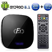 Sidiwen Android 8.1 TV Box F1 2GB RAM 16GB ROM Amlogic S905W Quad-Core Cortex-A53 CPU 2.4G WIFI Ethernet Supporto 3D 4K H.265 Smart Media Player