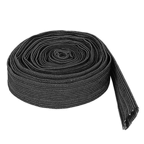 Schutzhülse TOPINCN Nylon 7,5 Meter Flexible Kabelhülse Wrap Cover für Schweißen Tig Torch Hydraulikschlauch -