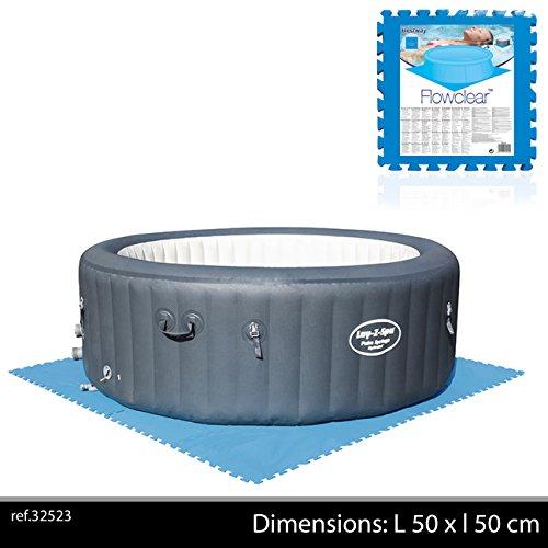 Bestway 58220 - Pack de 8 protectores de suelo para piscinas, de 50 x 50 cm