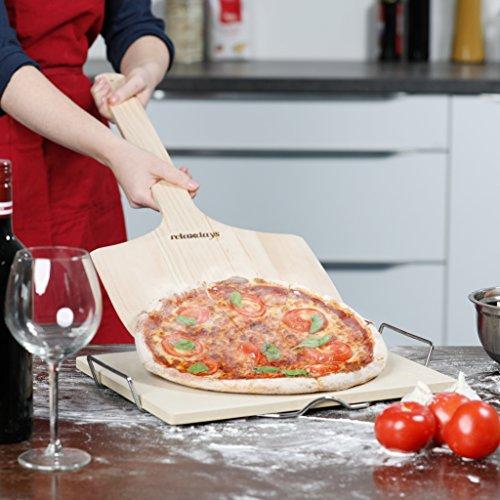 Relaxdays Pizzaschieber XXL aus Holz mit extra langem Griff - 2