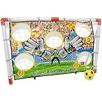 Inside Out Toys Set de portería diana de fútbol para niños - Tamaño ideal - 120 cm de ancho x 80 cm de alto