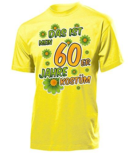 60er Jahre Kostüm Herren T Shirt Motto Schlager Party Karneval Fasching Verkleidung Schlagerkleidung Mottoparty Paar Deko Disco Weste Hut