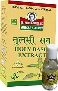 Dr Alfred James UK Natural Organic Tulsi Sat Drops Pure Consists No Artificial Preservatives 20 ML