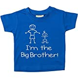 Kinder T-Shirt Im The Big Brother in Blau Erhältlich in Gr. 0-6 Monate bis 5-6 Jahre