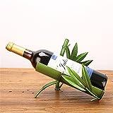 LL-COEUR Bambusblatt Weinflaschenhalter Dekoration Weinregal Kreative Weinständer Skulptur Flaschenregal Bambusstange Geschen