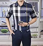 Authentic Burberry Men's Classic Fine Check Cotton Short Sleeve Casual Shirt