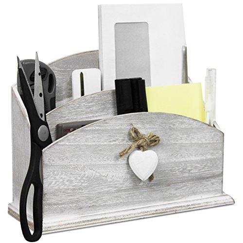 Atractivo–Bandeja para cartas de madera para espacios en estilo rústico revistero Organizador