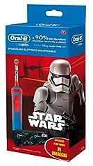 Idea Regalo - Oral-B 81633851 Spazzolino elettrico ricaricabile per bambini, Blu/Rosso