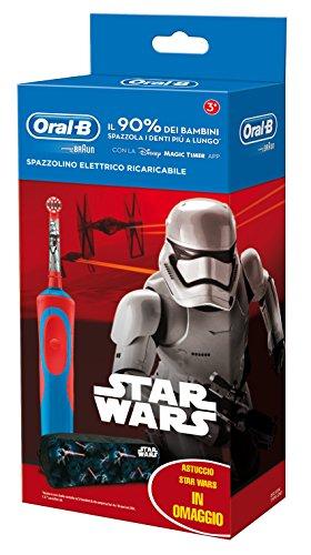 Oral-B 81633851 Spazzolino elettrico ricaricabile per bambini, Blu/Rosso