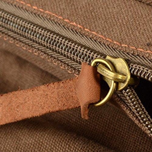 QHGstore Kuriertaschen Reisetasche Umhängetasche Tasche Reisetaschen kaffee