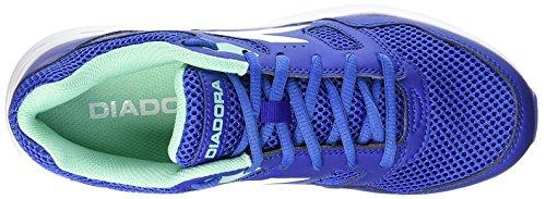 Diadora Shape 6, Baskets Basses Unisexes - Adulte Bleu / Blanc
