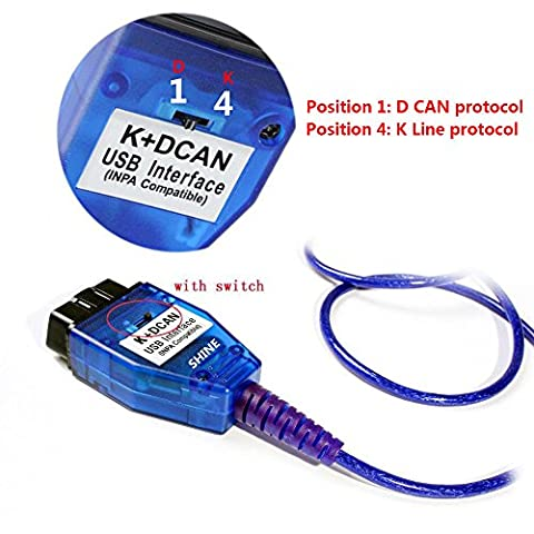 Shine INPA K+DCAN with Switch For BMW INPA K DCAN Interface SSS ISTA NCS Coding Winkfp Programing Support E