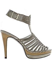 ChaussMoi - Sandalias de vestir de material sintético para mujer negro negro 39 82cxQ1OySg
