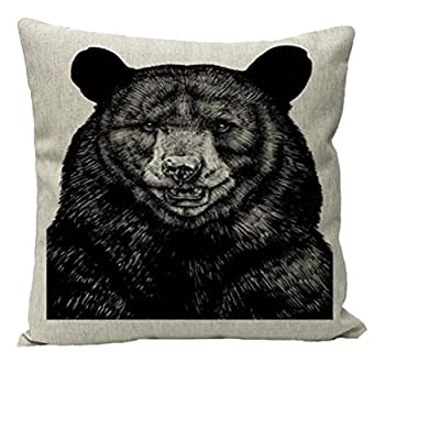 Nunubee Animal Cotton Linen Home Decor Throw Pillow Case Cushion Cover