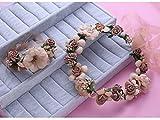 ZGP &Kopfschmuck Krone Blumen-Kranz, Stirnband-Blumen-Girlande-Handgemachtes Hochzeits-Braut-Partei-Band-Stirnband Wristband Hairband (Farbe : E)