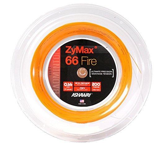 ASHAWAY ZyMax 66Fire Badminton Saiten 200m (660FT) Spule orange (Saite Ashaway Badminton)