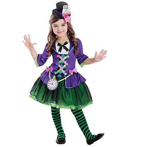 Frau Hutmacher - Verrückter Hutmacher Alice im Wunderland Kostüm Mädchen ()