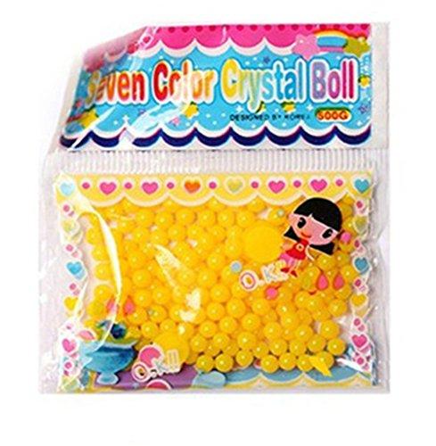 Wasser Perlen, Chickwin 20 Stück Kristall Boden Wasser Perlen Blase Big Beads Magic Jelly Bälle für Blume / Pflanze / Hochzeit Dekoration (Gelb) (Rosa Orbeez)