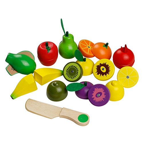 Magnetic Wooden Cutting Fruit Set Pretend Play Food Toy Vegetables Chopping Game for Children Kids Age 3+