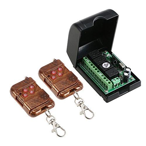 Festnight DC 12 V 433 MHz Universal RF Wireless Fernbedienung Schalter, 4CH Code lernen Empfänger Modul Relais + RF Fernbedienungen Dc 12v Wireless Remote