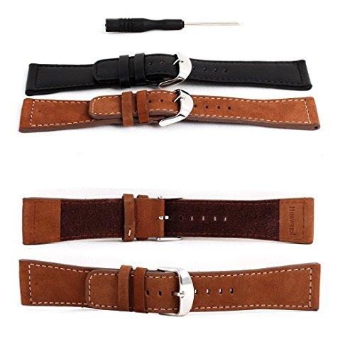 Preisvergleich Produktbild OKCS ® Premium Apple Watch 38 mm Basic / Sport / Edition ECHT Leder Armband Erstatzband Luxus Uhrenband Strap - in Braun
