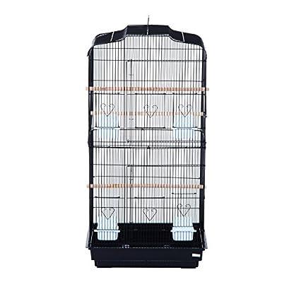 PawHut Large Metal Bird Cage for Parrot Parakeet Macaw Pet Supply Black 47.5L x 36W x 91H (cm) 7