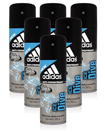 6x-adidas-ice-dive-mens-cool-dry-deodorant-antiperspirant-48h-developed-with-athletes-150ml