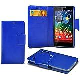 (Blue) Motorola RAZR HD XT925 Super dünne Kunstleder Saugnapf Wallet Case Hülle mit Credit / Debit Card SlotsBy Spyrox