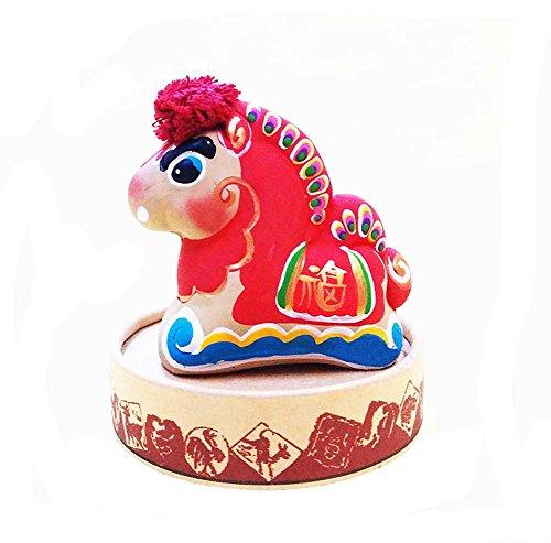 Preisvergleich Produktbild Ton-Skulptur Stern Ornamente Chinese-Eigenschaft Spielzeug Lehm-Figürchen