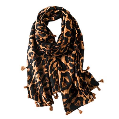 Gysad Bufandas mujer Estampado leopardo