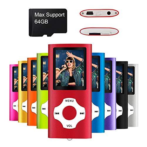 Mymahdi MP3 / MP4 beweglicher Spieler, Rot mit 1.8 Zoll LCD-Schirm und Memory Card Einbauschlitz, maximale Unterstützung 128GB