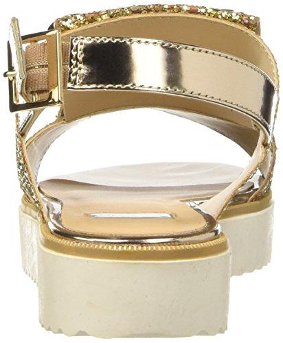 Bata 5698390, Scarpe Col Tacco con Cinturino a T Donna Oro