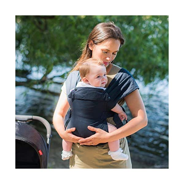 Izmi Baby Carrier (3.2kg-15kg), New Born Carrier, Multiple Carrying Positions, Midnight Blue Izmi Use from birth (3.2kg-15kg), new born cushion inserts included with carrier 4 carrying positions: front carry, outward facing carry, hip carry or back carry Adjustable seat width enables the Izmi Baby Carrier to adapt as your little one grows 5