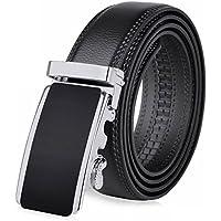 Da uomo automatico Fibbia Cintura, larghezza 3,5cm Business fibbia scorrevole a cricchetto cintura morbida