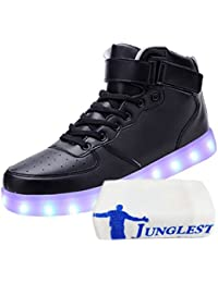 (Present:kleines Handtuch)Schwarz EU 46, Leuchtend High LED Blinkende Damen Farbwechse