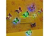 YHUJH Home Weihnachtsdekoration 5 Teile/Satz Lampe Blinkt Schmetterling Nachtlicht Wandaufkleber Lampe LED Dekorative Nachtlichter für Party Raum Hochzeit Dekorationen (Zufällige Farbe)