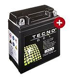 TECNO-GEL Motorrad-Batterie/Roller-Batterie YB3L-A, 12V Gel-Batterie 3Ah, 99x57x111 mm