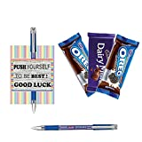 #7: Message card with pen and hamper for Exam