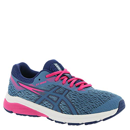514R3de1GIL. SS500  - ASICS Kid's GT-1000 7 GS Running Shoe, Azure/Fuschia Purple - 4.5 D(M) US