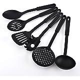 JN-STORE Nylon Non-Stick Kitchen Big Spoon, Strainer, Big Ladle, Big Dosa Turner, Small Dosa Turner, Small Pan Ladle And Free 1 Tester (Set Of 6)