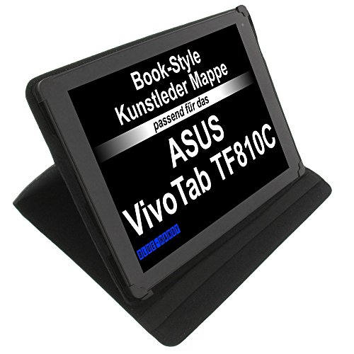 foto-kontor Tasche für ASUS VivoTab TF810C Flipbook TP200SA Flipbook TP201SA-FV0007T Transformer 3 Pro Book Style