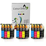 12 XL Colour Direct Compatible Ink Cartridges Replacement For Brother LC127XL / LC125XL DCP-J4110DW MFC-J4410DW MFC-J4510DW MFC-J4610DW MFC-J4710DW MFC-J6520DW MFC-J6720DW MFC-J6920DW Printers